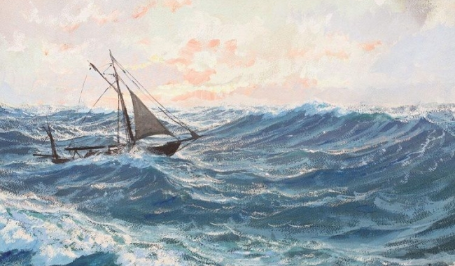 """Dimitrie Știubei - """"Înfruntând valurile"""""""