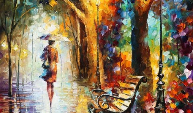 """Sursă foto: afremov.com; """"The End of Patience"""", pictură de Leonid Afremov"""