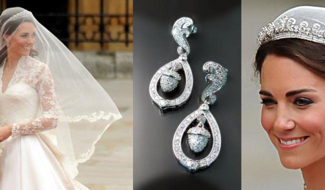 Cerceii în stil picătură aleși de Kate Middleton, la nunta regală din 2011, au inspirat multe mirese cu fața în formă de inimă.