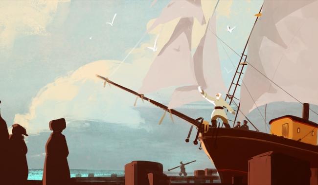 """Sursa foto: ulricleprovost.deviantart.com  Secvență din animația """"La capătul lumii"""""""