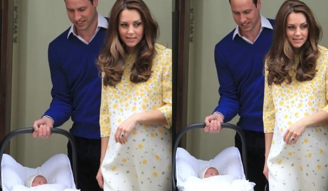 Sursa foto: dress.yournextshoes.com  Ducesa de Cambridge a făcut furori într-o rochie cu flori galben pal, când a prezentat-o pentru prima dată în public pe fetița ei nou-născută, Prințesa Charlotte.