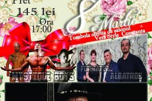 8 Martie incendiar, cu Albatros Band, Mircea Cazan și striptease masculin