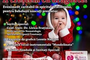 """""""Îi creștem cu dragoste!"""", acțiune umanitară dedicată copiilor născuți prematur, la Constanța"""