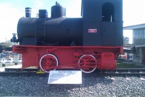 Locomotivă cu aburi în gara Constanţa