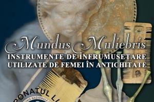 Instrumente de înfrumusețare utilizate de femei în antichitate, expuse la Muzeul de Istorie Constanța